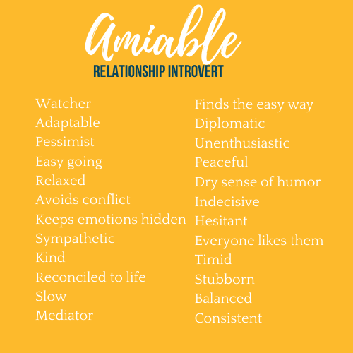 amiable personality type
