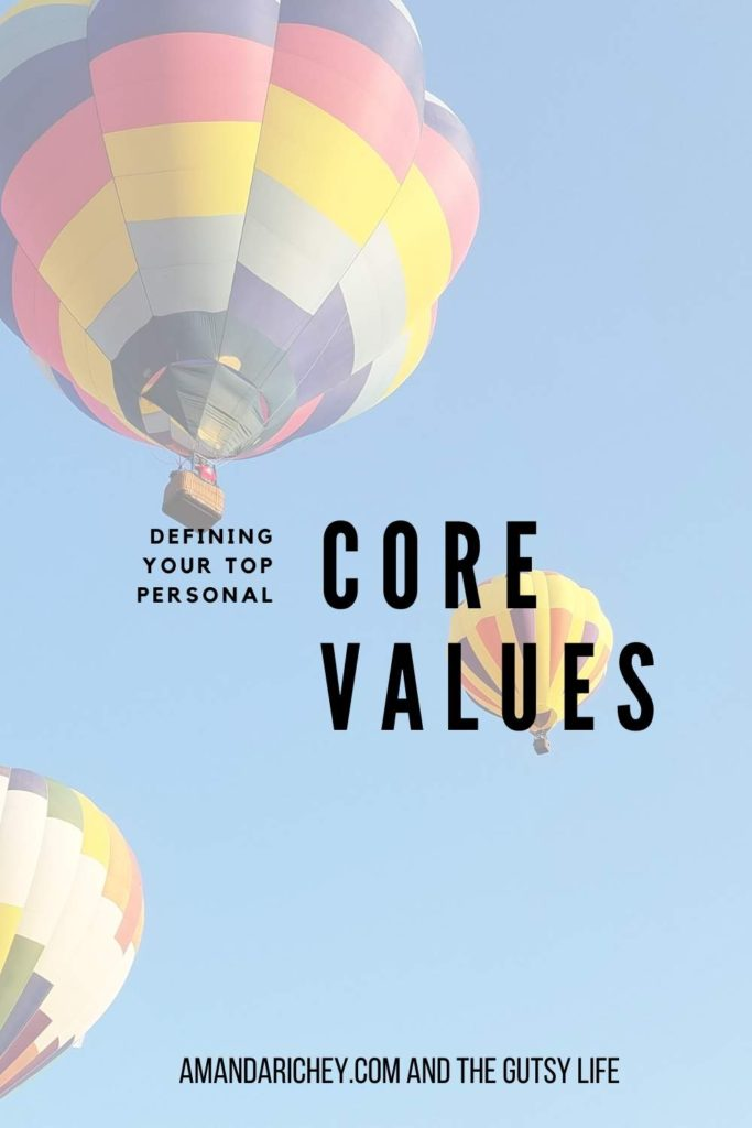 Core personal values