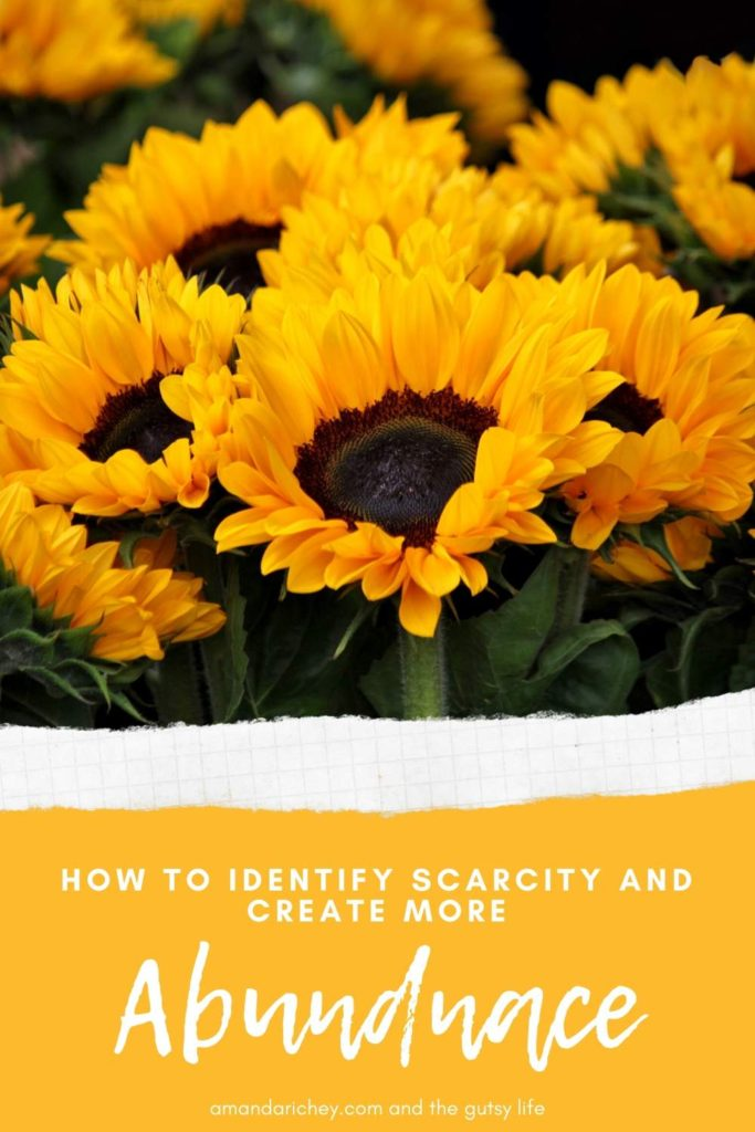 How to identify scarcity and create more abundance