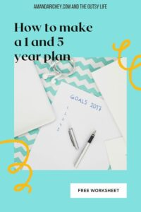 one and five year plan