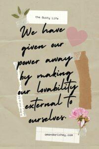 radical self love quote